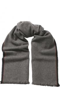 Кашемировый шарф с принтом и необработанным краем Loro Piana