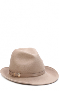 Фетровая шляпа с кожаным ремешком Inverni