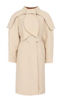 Хлопковое пальто с поясом Vika Gazinskaya