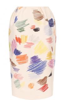Хлопковая юбка-миди с принтом Vika Gazinskaya