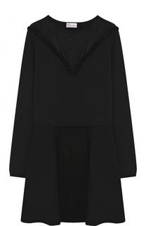 Приталенное мини-платье с длинным рукавом REDVALENTINO