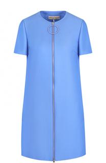 Шерстяное мини-платье с коротким рукавом Emilio Pucci