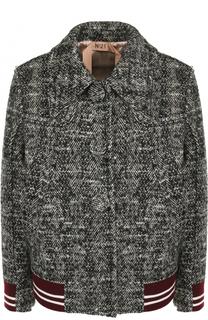 Шерстяная куртка с отложным воротником No. 21