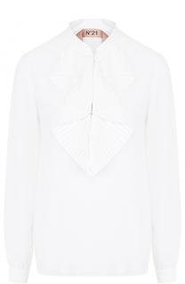 Блуза с плиссированным воротником аскот No. 21