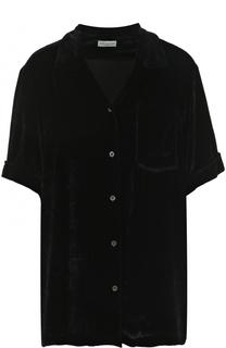 Однотонная бархатная блуза с коротким рукавом Dries Van Noten