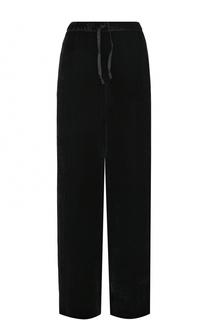 Однотонные бархатные брюки прямого кроя Dries Van Noten