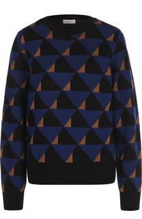 Шерстяное пуловер с круглым вырезом Dries Van Noten