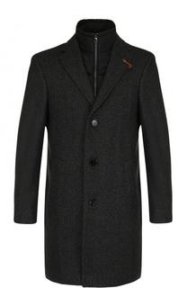 Однобортное шерстяное пальто с подстежкой Baldessarini