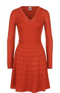 Вязаное мини-платье с длинным рукавом M Missoni