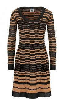 Приталенное платье-миди в полоску M Missoni