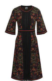 Приталенное платье-миди с принтом M Missoni