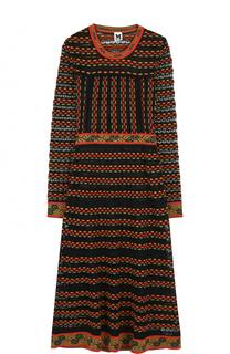 Приталенное платье-миди с длинным рукавом M Missoni