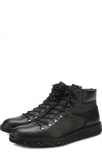 Высокие кожаные ботинки на шнуровке Hogan