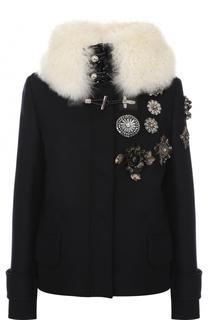 Шерстяная куртка с меховой отделкой Fay
