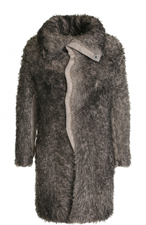 Однобортное пальто из смеси шерсти и вискозы Transit