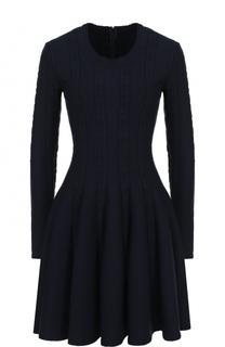 Приталенное мини-платье с длинным рукавом Alaia