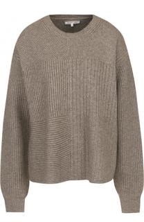 Шерстяной свитер свободного кроя с круглым вырезом Helmut Lang