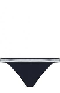 Однотонный плавки-бикини с контрастным поясом Zimmermann
