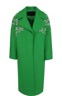 Шерстяное пальто с укороченным рукавом и декоративной отделкой Tara Jarmon