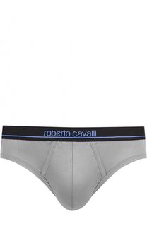 Хлопковые брифы с широкой резинкой Roberto Cavalli