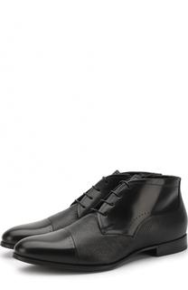 Кожаные ботинки на шнуровке с внутренней меховой отделкой Barrett