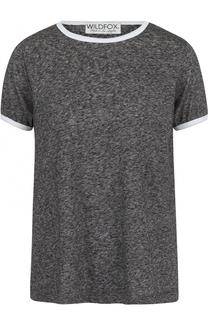 Хлопковая футболка с круглым вырезом Wildfox