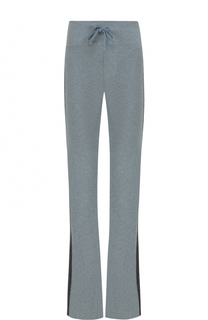 Расклешенные брюки с контрастными лампасами Wildfox