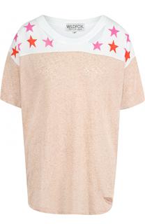 Хлопковая футболка свободного кроя с круглым вырезом Wildfox