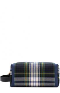 Клатч из хлопка в шотландскую клетку Burberry