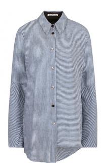 Блуза свободного кроя в полоску Acne Studios