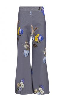 Вельветовые расклешенные брюки с принтом Acne Studios