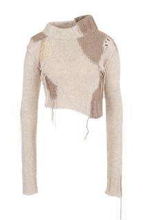 Укороченные шерстяной свитер Acne Studios