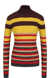 Шерстяной облегающий свитер в полоску Marni