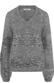 Вязаный пуловер с V-образным вырезом D.Exterior