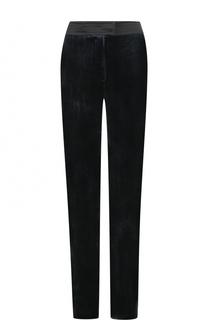 Бархатные брюки прямого кроя с карманами Tara Jarmon