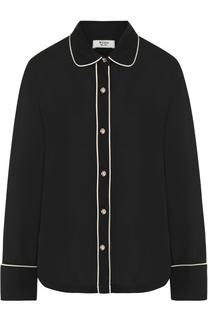 Блуза прямого кроя с контрастной отделкой Weill