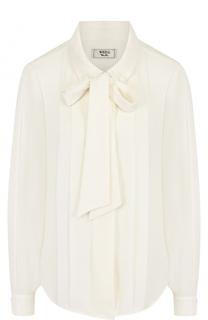 Однотонная блуза прямого кроя с воротником аскот Weill