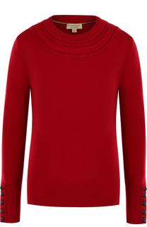 Кашемировый пуловер прямого кроя с круглым вырезом Burberry