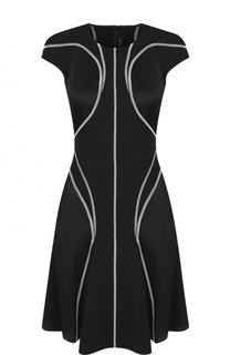 Приталенное мини-платье с круглым вырезом Versace