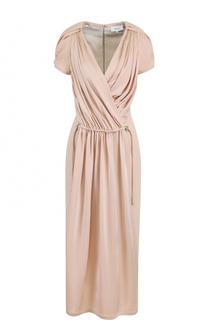 Приталенное платье-миди с драпировкой Carven