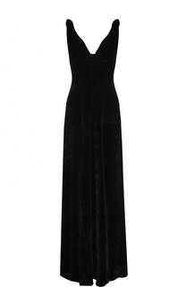 Приталенное бархатное платье-макси Dries Van Noten