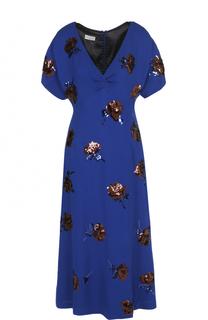 Приталенное платье-миди с пайетками Dries Van Noten