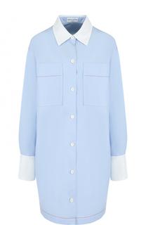 Удлиненная хлопковая блуза свободного кроя Sonia Rykiel
