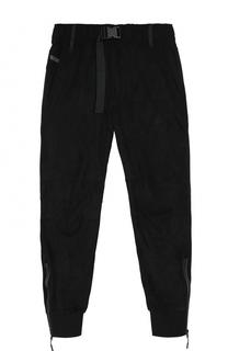 Укороченные брюки прямого кроя с манжетами Diesel