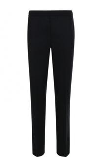 Шерстяные брюки прямого кроя с поясом на резинке Moncler