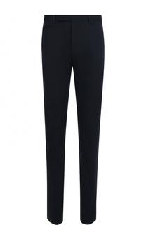 Хлопковые брюки прямого кроя с нашивками Fendi