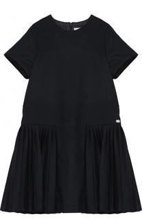 Трикотажное мини-платье с плиссировкой Tartine Et Chocolat