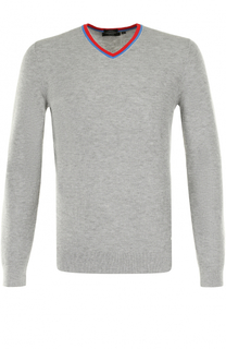 Пуловер из смеси шерсти и хлопка BOSS