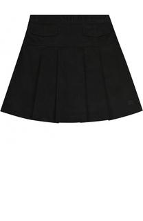 Хлопковая юбка с защипами Burberry