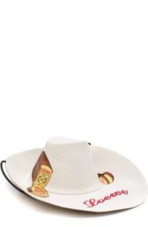 Хлопковая шляпа с принтом и логотипом бренда Loewe